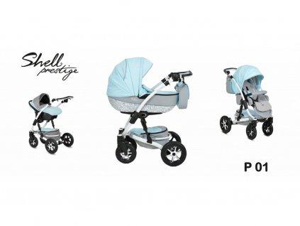 kočárek Baby Active 3v1 Shell Prestige 2021 01