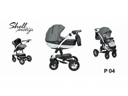 kočárek Baby Active 3v1 Shell Prestige 2021 04