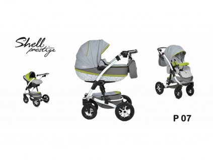 kočárek Baby Active 3v1 Shell Prestige 2021 07