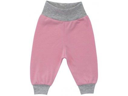 ESITO Kojenecké tepláčky bavlna vel. 80 - 86 - 80 / růžová ESKOJTEP