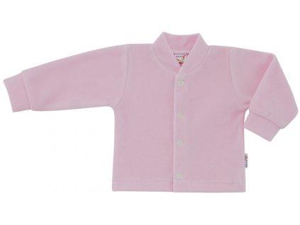 ESITO Kojenecký kabátek plyšový jednobarevný - růžová / 56