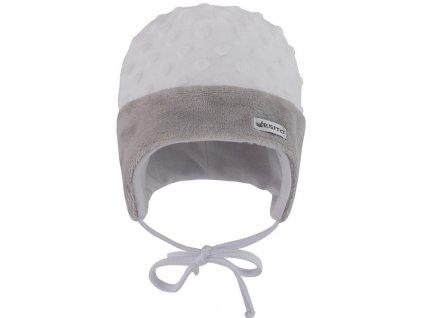 ESITO Dětská zimní čepice Minky Méďa - bílá / 32 ESCEPZIMMED