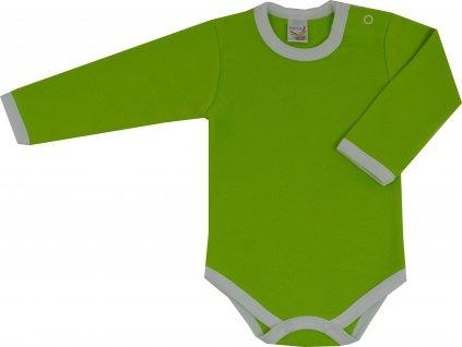 ESITO Bodyčko jednobarevné vel. 50 - 74 - sytá zelená / 50 ESBODJEDNOB