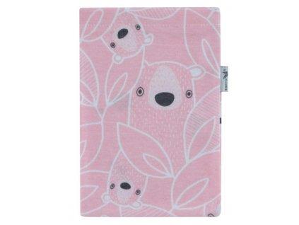 ESITO Žínka bavlna úplet Jersey Brumla - růžová / 19 x 14 cm