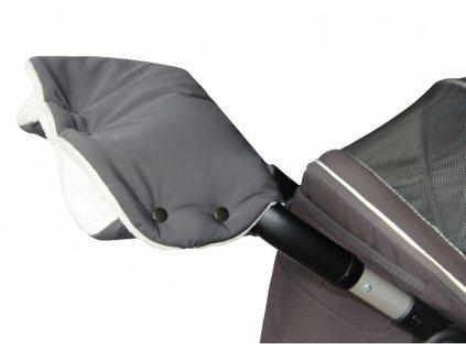 Emitex Rukávník kočár PREMIUM - šedý + krémový