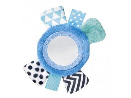 Canpol babies Šustící plyšová hračka na ruku se zrcátkem ZIG ZAG modrá Canpol 68/056_BLU