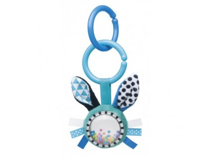 Canpol babies Šustící plyšová hračka s chrastítkem ZIG ZAG králík modrá Canpol 68/058_BLU
