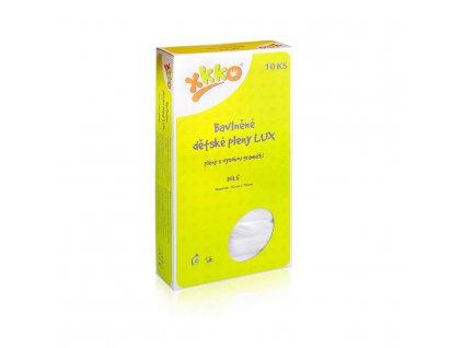 Kikko Vysokogramážní dětské pleny XKKO LUX 70x70 - Bílé