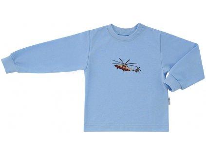 ESITO Dětské tričko dlouhý rukáv Vrtulník vel. 86 - 92 - modrá / 92