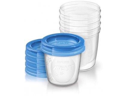 Avent VIA pohárky s víčkem 180ml - 5ks SCF619/05