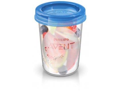 Avent VIA pohárky s víčkem 240ml - 5ks SCF639/05
