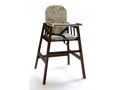 Dřevěná jídelní židlička Faktum Abigel, wenge Barva konstrukce: palissandr