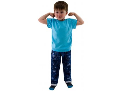 ESITO Dětské tričko jednobarevné vel. 98 - 116 - 116 / tyrkysová