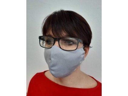 ESITO NANO antibakteriální rouška se stříbrem Šedá vel. S, M, L - L / šedá
