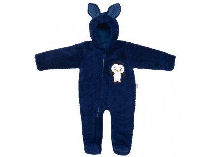 Zimní dětská kombinéza New Baby Penguin tmavě modrá Velikost: 56 (0-3m)