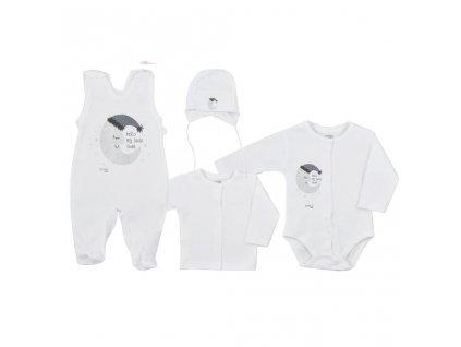 4-dílná kojenecká souprava Koala Moon bílá vel.50