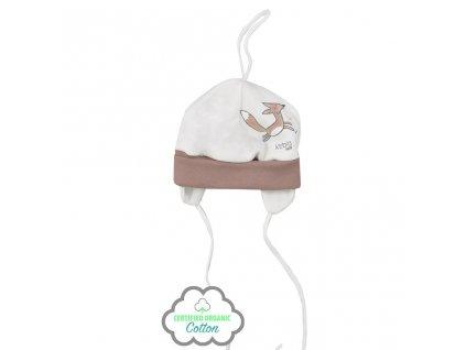 Kojenecká čepička z organické bavlny Koala Lesní Přítel béžová vel.62