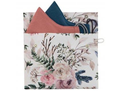 ESITO Ochranné pouzdro na roušku Růže pro roušku M a L - 14 x 18 cm / bílá