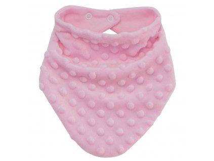ESITO Šátek na krk Minky podšitý bavlnou - 0 - 5 let / růžová ESDETSATMNK