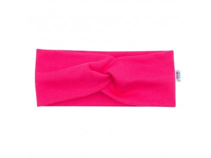 Kojenecká čelenka New Baby Style tmavě růžová 40,5 cm