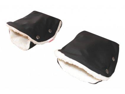Emitex Rukavice soft - černé + kožich beránek