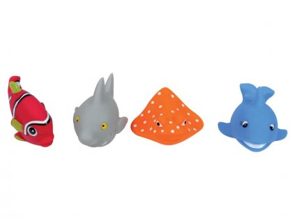 LUDI Hračky do vody rybky 4ks