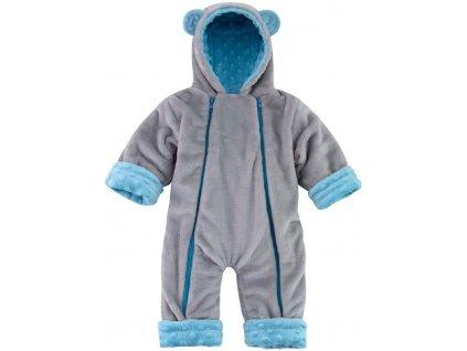 ESITO Zimní kojenecký overal Minky Méďa - 68 - 74 / modrá ESOVEZIMMED