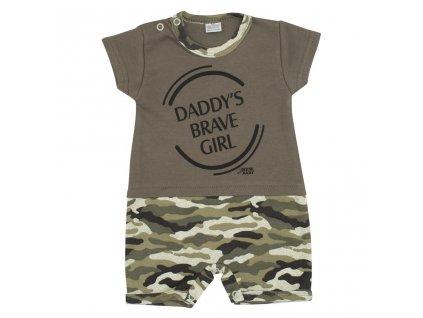 Kojenecký letní overal New Baby Army girl vel.74