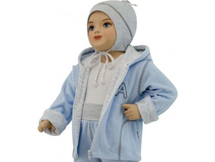 ESITO Dětská jarní bunda Adam vel. 56 - 68 - 68 / modrá ESBUNADA