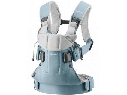 Ergonomické nosítko Babybjorn ONE Light blue/Light gray cotton limitovaná edice