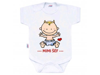 Body s potiskem New Baby MIMI ŠÉF Velikost: 56 (0-3m)