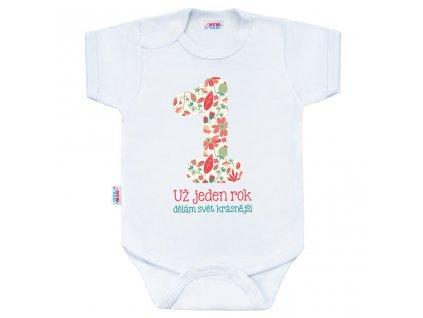 Body s potiskem New Baby Už jeden rok dělám svět krásnější Velikost: 86 (12-18m)