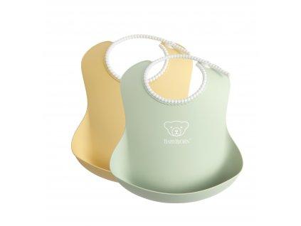 Baby bryndáky 2 ks pudrově žlutý/pudrově zelený Babybjorn