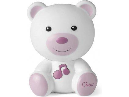 CHICCO Noční světélko hudební Medvídek růžové 0m+