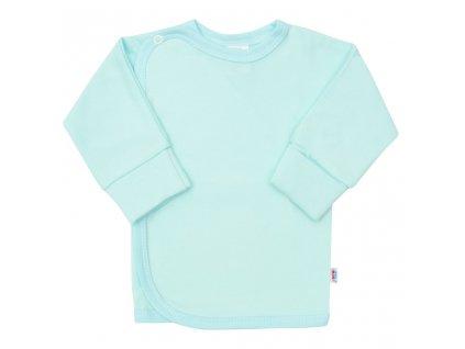 Kojenecká košilka s bočním zapínáním New Baby tyrkysová