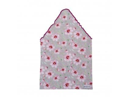 ESITO Dívčí šátek BIO Kytka - 38 / růžová ESDIVSATBIOKYY