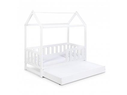 KLUPS Dětská postel 2v1 LIV domeček 160x80 bílý