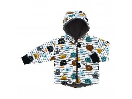 ESITO Dětská zimní bunda BIO Příšerky  bílá