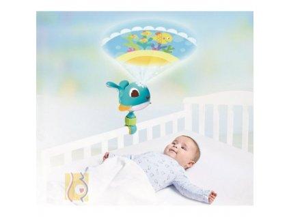 Tiny Love cestovní projektor velryba Cody modrá (varianta růžová)