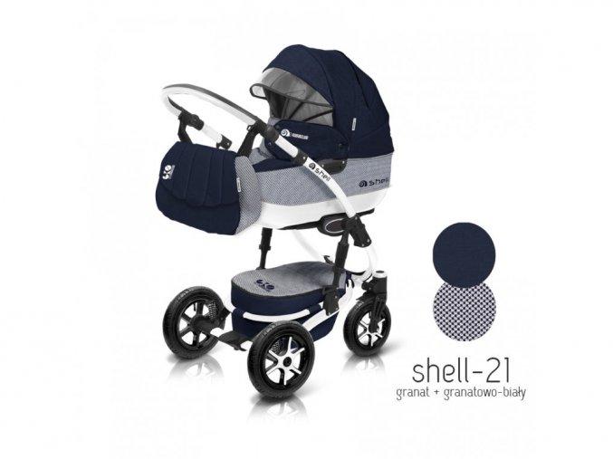 Baby Active Kočárek 3v1 Shell Eko 2019 21
