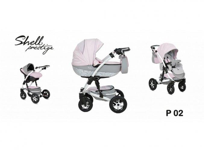 kočárek Baby Active 3v1 Shell Prestige 2019 02