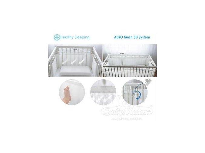 Baby Matex Bumper Air síťovaný mantinel do postýlky (varianta 0239  360x30)