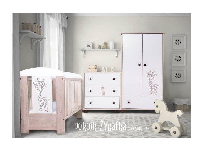 Dětský pokoj Drewex Žirafa (varianta cappucino)