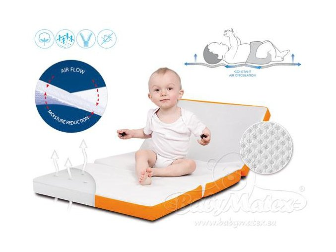 Baby Matex Skládací cestovní matrace Venti s prodyšnou vrstvou