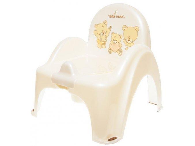 nočník záchodek Tega Baby Medvídek (varianta sv. béžová)