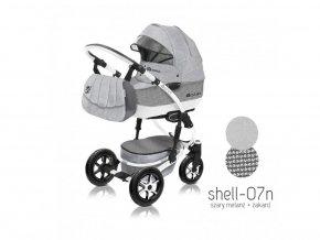 Baby Active Kočárek 3v1 Shell Eko 2019 07