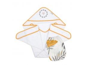 Okrycie niemowlęce z myjką muslinową Tropics N003
