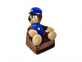 Dětské plyšové křesílko Smyk 2v1 Policeman Dog