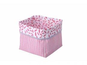 Kikadu Textilní krabice růžová