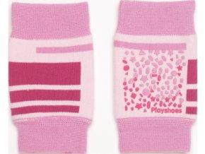 Protiskluzové nákoleníky - růžové, Playshoes